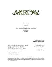 Arrow script title page - Tremors