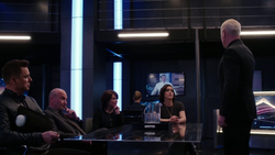 Damien Darhk and H.I.V.E. discuss Oliver Queen and Ruvé Adams' political race