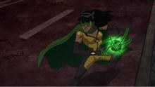 Jenny using her powers