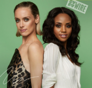 Rachel Skarsten and Meagan Tandy at NYCC 2019 Batwoman Panel