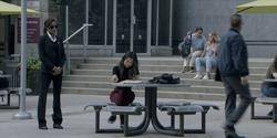 Sophie escorts Mary at Gotham University