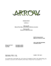 Arrow script title page - A.W.O.L.