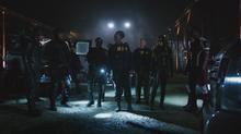 Black Canary with Team Arrow and the FBI