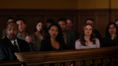 Caitlin and Iris in the courthouse