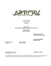 Arrow script title page - Genesis