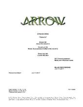 Arrow script title page - Tribute