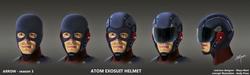 A.T.O.M Exo-suit concept art - masks