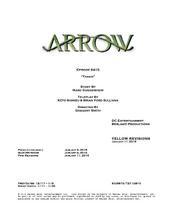 Arrow script title page - Taken