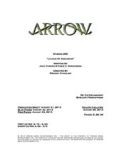 Arrow script title page - League of Assassins