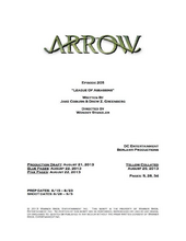 Arrow script title page - League of Assassins