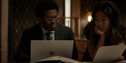 Mary watches Luke's researches