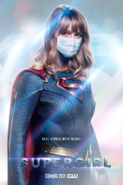 Supergirl poster - Real Heroes Wear Masks