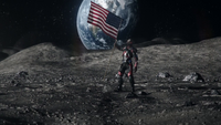 Ray Palmer retrieves the last fragment of the Spear from the US flag on the moon
