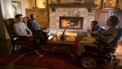 Barry and Joe interrogating Clifford DeVoe