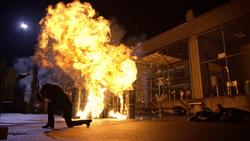 Dinah sets off explosives
