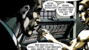 Oliver Queen and John Diggle talk about Justin Whicker