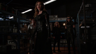 Laurel stands with the heroes