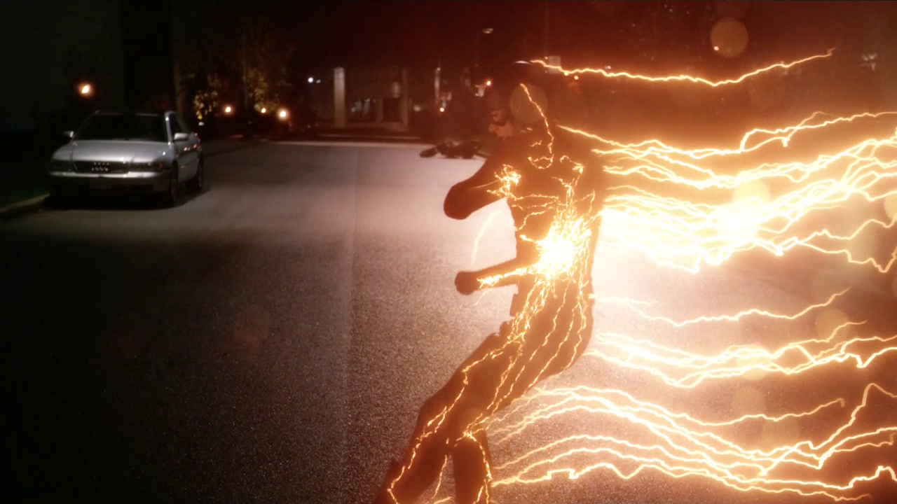 The Flash Generating A Lightning Bolt