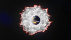 Antimatter wall destroys Earth-1