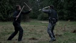 The Odyssey - Oliver entrenando con Slade