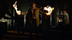 John Constantine produces fire from his hands