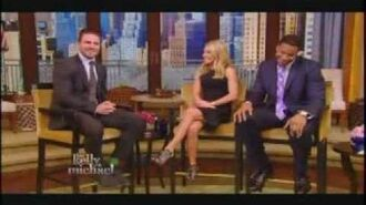 Stephen Amell on Live with Kelly and Michael