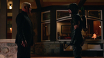 Green Arrow confronts Damien Darhk