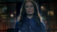 Alura's hologram talking to Kara