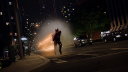 Barry Allen breaks the sound barrier