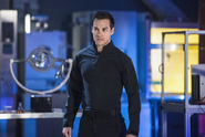 Mon-El in the D.E.O. suit