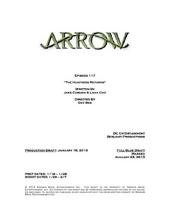 Arrow script title page - The Huntress Returns