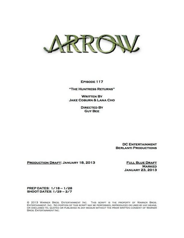 File:Arrow script title page - The Huntress Returns.png