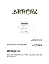 Arrow script title page - The Scientist