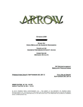 Arrow script title page - The Scientist