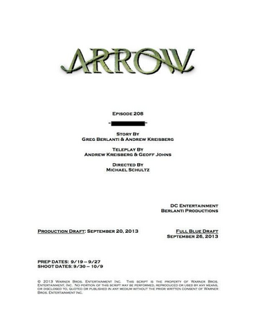 File:Arrow script title page - The Scientist.png