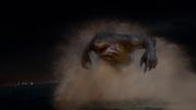 King Shark chasing Barry