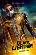 Black Lightning poster - Real Heroes Wear Masks