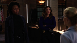 Dinah and Watson being recruited by Rene and Felicity