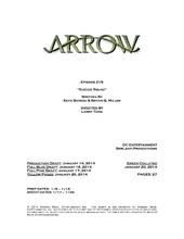 Arrow script title page - Suicide Squad
