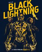 Black Lightning poster - Get Lit