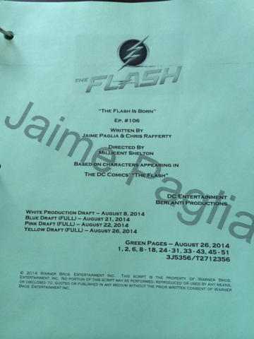 File:The Flash script title page - The Flash Is Born.png