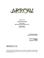 Arrow script title page - Unfinished Business