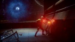 Reverse-Flash tries to kill the Flash