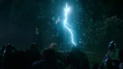 Damien Darhk as Odin demands the allegiance of vikings