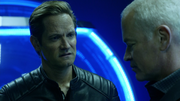 Eobard and Damien talk about Rip Hunter
