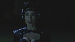 Nora posing as a Valkyrie