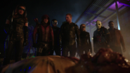 Laurel joins Team Arrow in their final battles against the Ninth Circle