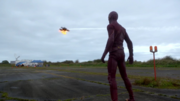 Flash training before the fight with Reverse-Flash