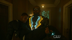 Black Lightning saves Bernard