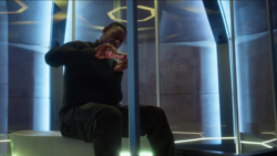 J'onn eating Chocos